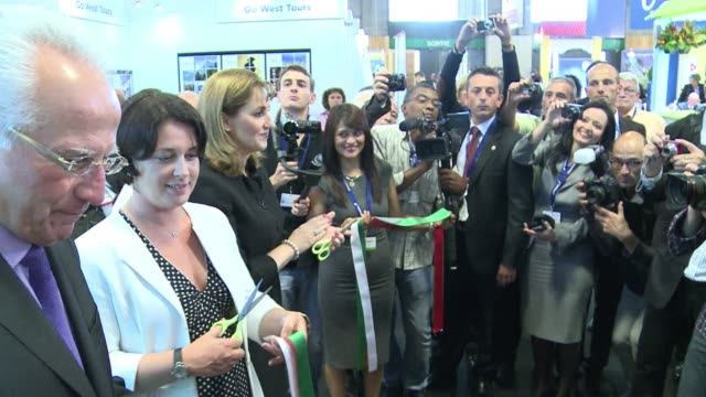 the international tourism trade show iftmtop resa opened in paris on tuesday with mexico figuring prominently among exhibitors paris france - resa stock videos & royalty-free footage