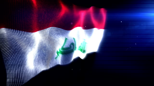 the iraqi flag - background loop (full hd) - iraqi flag stock videos and b-roll footage