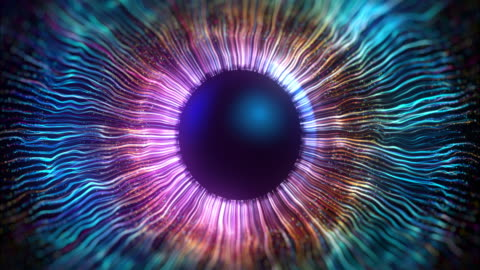 the iris of the eye made using computer graphics - abstract stock videos & royalty-free footage