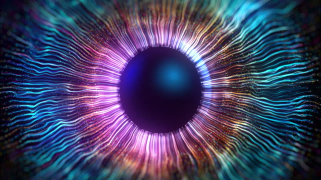 the iris of the eye made using computer graphics - multi coloured stock videos & royalty-free footage