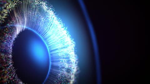 iris i ögat gjort med hjälp av datorgrafik - iris öga bildbanksvideor och videomaterial från bakom kulisserna