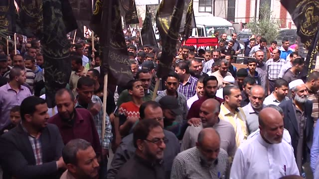 the islamic jihad organized a march in solidarity with jerusalem and the detainees / it went from the north of jablia camp to a house of the detainee... - jihad stock videos & royalty-free footage