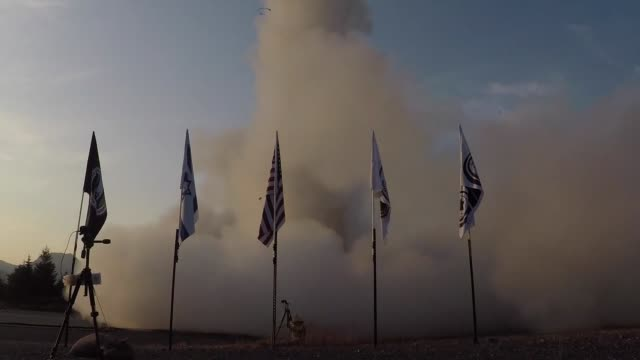 vídeos de stock e filmes b-roll de the israel missile defense organization and the us missile defense agency successfully completed a flight test with the arrow 3 interceptor missile... - ministério da defesa
