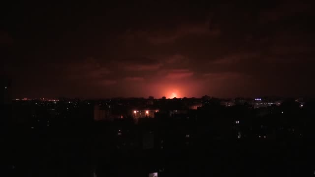the israeli army launch air attacks on gaza strip on august 09 2018 at least three palestinians have been martyred in israeli airstrikes on the gaza... - fighter stock videos & royalty-free footage