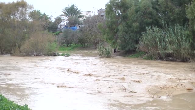 the israeli authorities have opened the sewage dams of the east of gaza city monday against the houses and the farms of the gaza citizens in wadi... - media occupation stock videos & royalty-free footage