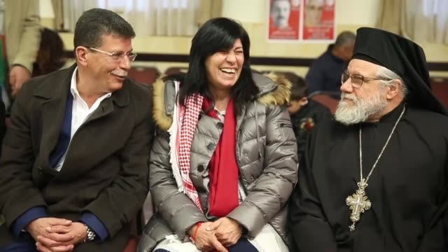 "vídeos de stock, filmes e b-roll de the israeli authorities thursday morning released palestinian lawmaker khaleda jarrar after holding her for 20 months in ""administrative detention""... - ramallah"