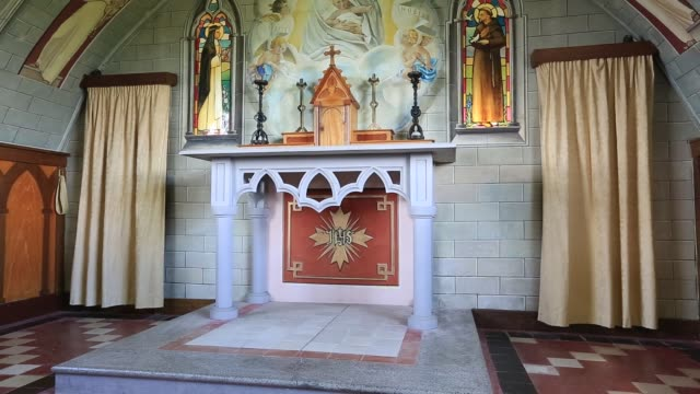 the italian chapel on lamb holm in the orkney islands a catholic chapel constructed out of nissan huts by italian prisoners of war who were employed... - shack stock videos & royalty-free footage