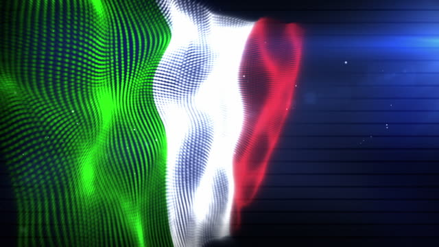 the italian flag - background loop (full hd) - italian flag stock videos and b-roll footage