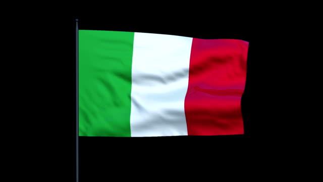 the italian flag ripples in a breeze. - italienische flagge stock-videos und b-roll-filmmaterial