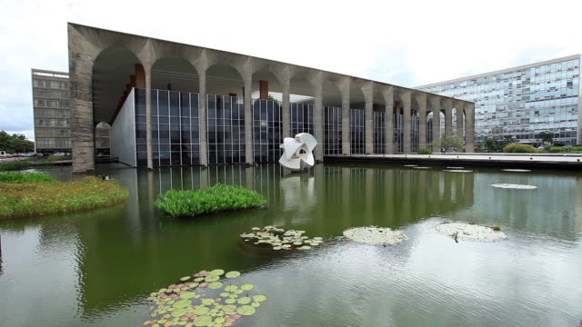 the itamaraty palace, ministry of external relations of brazil - brasilia stock videos and b-roll footage