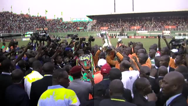 the ivory coast government has thrown its support behind the national football team ahead of the 2012 africa cup of nations, in the hope that a good... - côte d'ivoire stock videos & royalty-free footage