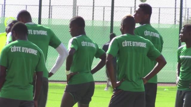 The Ivory Coast national football team trains in Abu Dhabi ahead of the Africa Cup of Nations which will take place in Gabon later this month