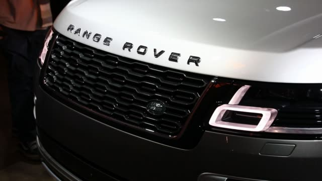 The Jaguar Land Rover Automotive Plc 2018 Range Rover SVAutobiography sports utility vehicle is displayed during a Jaguar Land Rover Automotive Plc...
