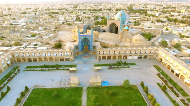 the jame abbasi mosque, esfahan, iran - square stock videos & royalty-free footage