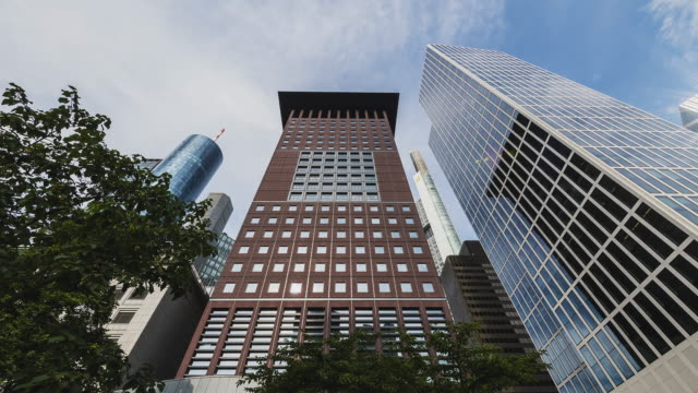 t/l of the japan center in frankfurt's financial district - main tower stock videos and b-roll footage