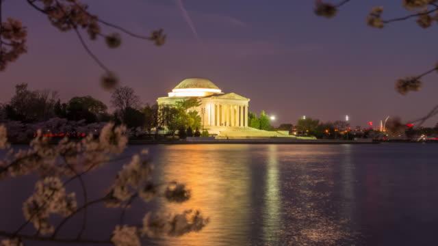 De Jefferson Memorial tijdens de kersenbloesem Festival