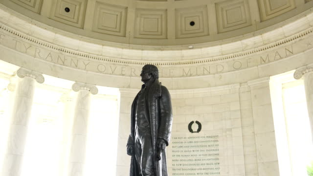 the jefferson memorial during the cherry blossom festival - thomas jefferson stock videos & royalty-free footage