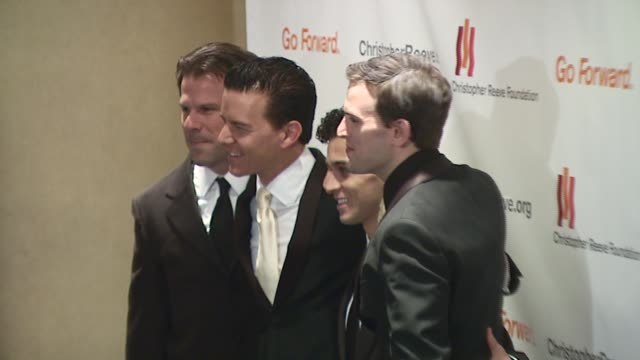 the jersey boys at the christopher reeve foundation celebration of the strength and courage of christopher and dana reeve with a magical evening at... - christopher and dana reeve foundation stock videos and b-roll footage