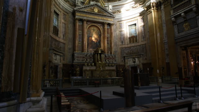 the jesuit church il gesù in rome - chair stock videos & royalty-free footage