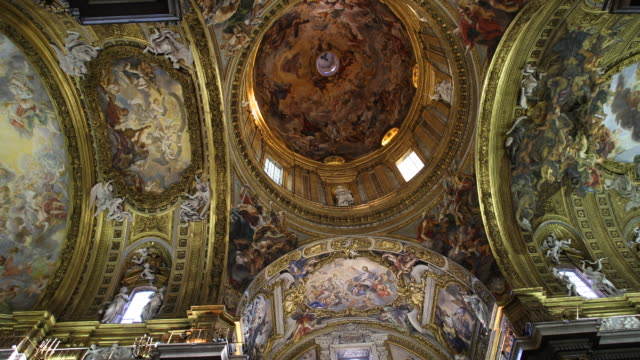the jesuit church il gesù in rome - baroque点の映像素材/bロール