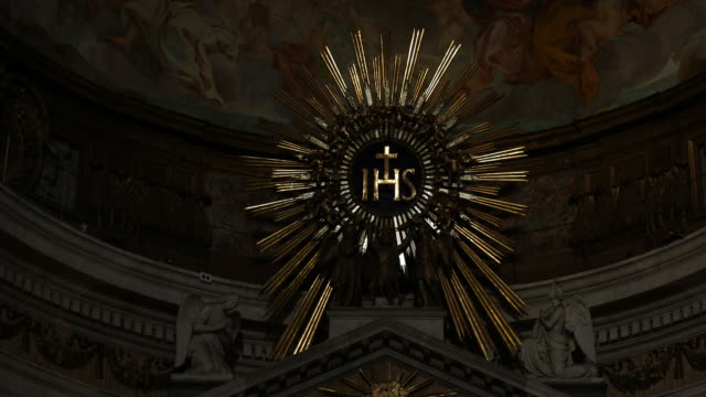 the jesuit church il gesù in rome - jesuit stock videos and b-roll footage