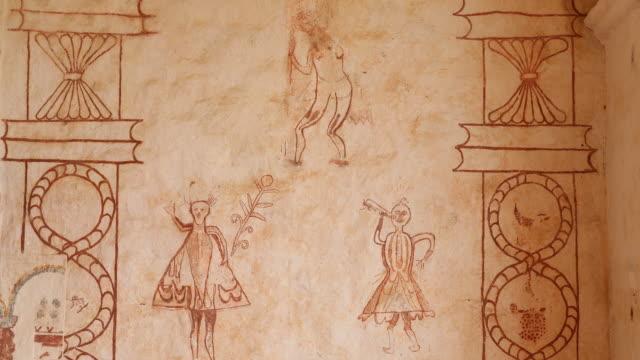 the jesuit reduction in san jose de chiquitos in bolivia - 壁画点の映像素材/bロール