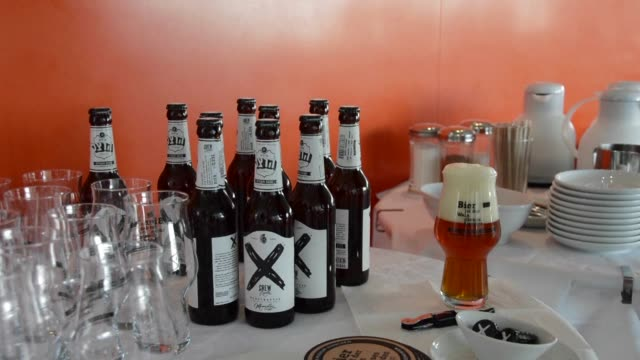 the jewish museum in munich celebrates the 500th anniversary of the german law on beer purity in its own way organizing an exhibition about local... - law stock videos & royalty-free footage