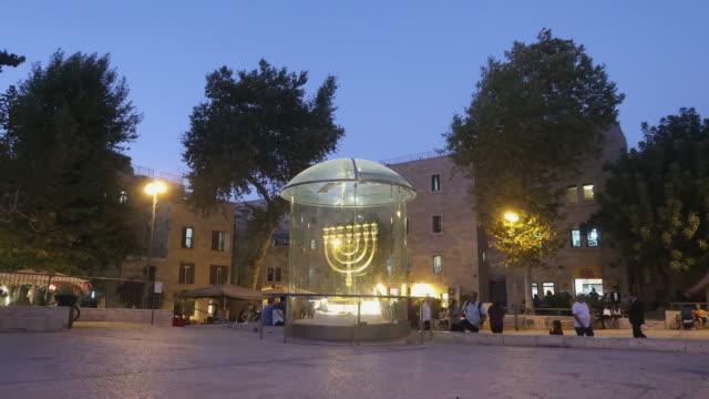 the jewish quarter in jerusalem - jerusalem stock-videos und b-roll-filmmaterial