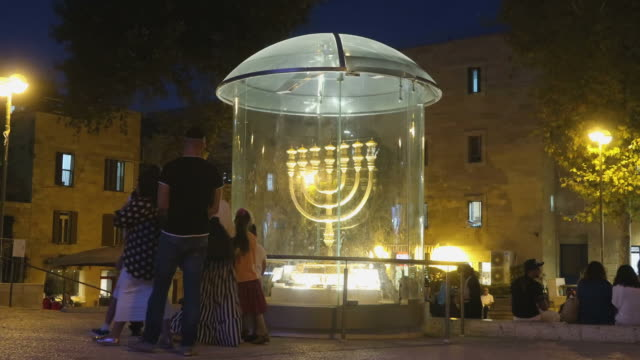 the jewish quarter in jerusalem - judaism stock videos & royalty-free footage