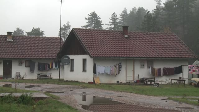 the jezevac camp on the outskirts tuzla in bosnia has been home to some eternal refugees for nearly 25 years - ratko mladic stock videos & royalty-free footage