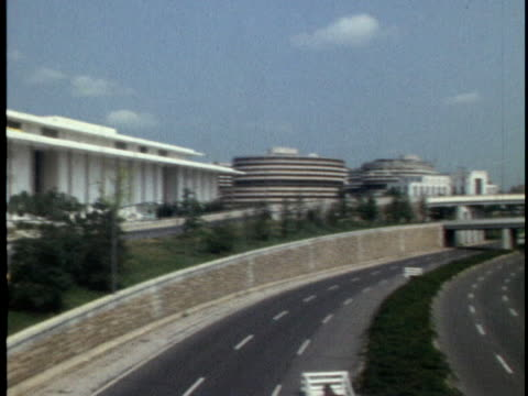 ext ws of the john f kennedy center for the performing arts days before its opening on september 8 1971 the center is home to theater ballet opera... - john f. kennedy center for the performing arts stock videos & royalty-free footage