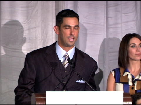 the jorge posada foundation celebrates its 7th heroes of hope gala new york ny 6/16/08 - event capsule stock videos & royalty-free footage