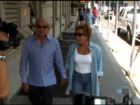 the judge's jerry and judy sheindlin walk hand in hand on the eastside in new york 06/03/11 - judge entertainment stock videos & royalty-free footage