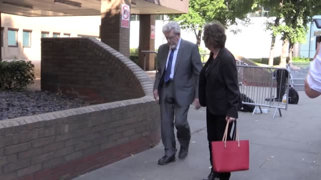 the jury in the indecent assault retrial of former entertainer rolf harris has been sent out to consider its verdicts harris denies four charges of... - rolf harris stock videos and b-roll footage