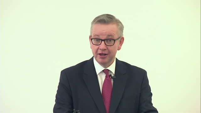 the justice secretary michael gove has revealed how he did everything he could not to put himself forward as a replacement for david cameron in a... - replacement stock videos and b-roll footage