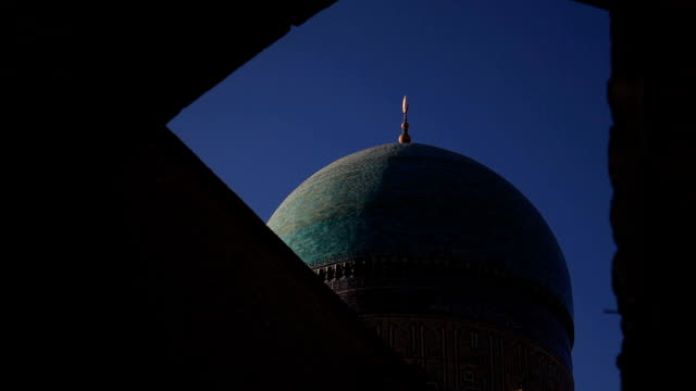 the kalyan mosque, bukhara. - bukhara stock videos and b-roll footage