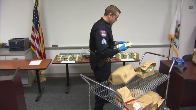 wgn the kane county sheriff's office seized 17 kilos of cocaine with an estimated street value of $16 million as well as $295000 on march 14 2014 in... - recreational drug stock videos & royalty-free footage
