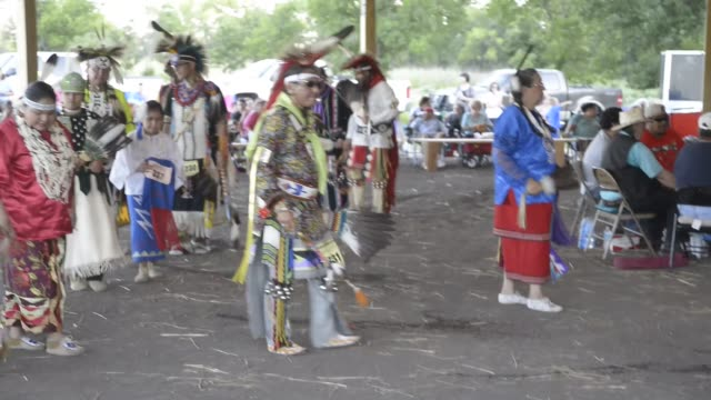 the kaw nation also called the kanza american indian tribe holds its first official powwow in 142 years on its own land near council grove kansas the... - native american reservation stock videos & royalty-free footage