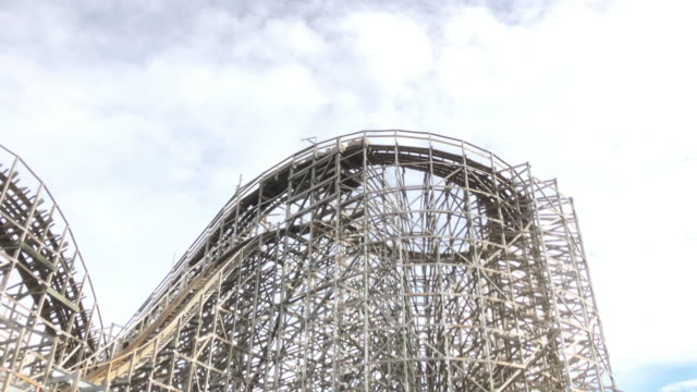 the kemah boardwalk is a 60acre texas gulf coast theme park in kemah texas approximately 30 miles southeast of downtown houston texas - roller coaster stock videos & royalty-free footage