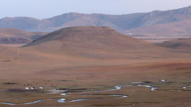 the khangai mountains in mongolia. - independent mongolia stock videos & royalty-free footage
