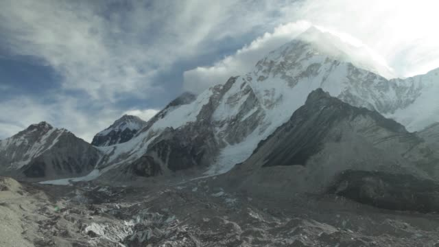 the khumbu glacier and khumbu icefall stand at the base of mount everest and everest base camp in the solukhumbu region of nepal february 12 2015 the... - icefall stock videos and b-roll footage