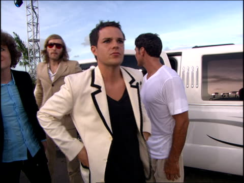 the killers arriving at the 2005 mtv video music awards red carpet - mtv video music awards stock videos and b-roll footage