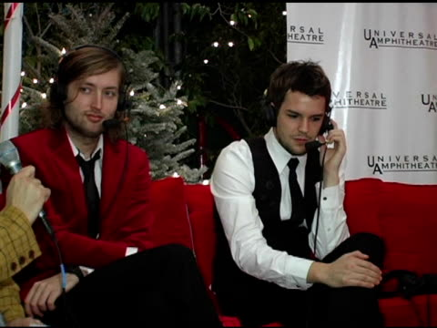 the killers at the 2004 kroq almost acoustic christmas at the universal amphitheatre in universal city, california on december 11, 2004. - kroq stock videos & royalty-free footage