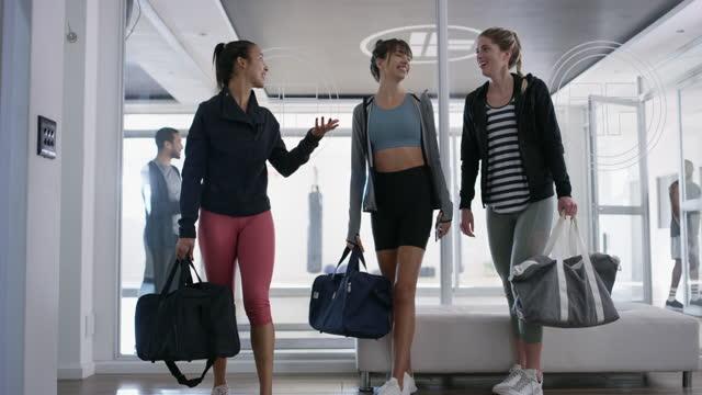 die art des managements, das eine mitgliedschaft im fitnessstudio wächst - wohlbefinden stock-videos und b-roll-filmmaterial