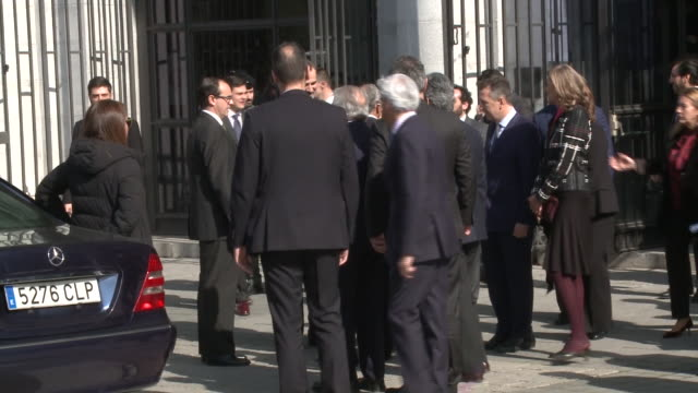 The King and Queen of Spain left the act of the Closure of World Law Congress in Madrid after Felipe VI received the prize
