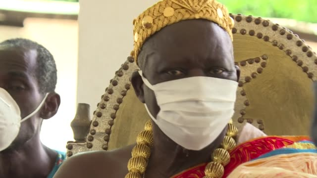 the king of sanwi, based in the southeast of ivory coast, holds a special exorcism ceremony seeking divine intervention to protect his three million... - exorcism stock videos & royalty-free footage