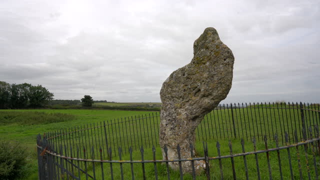 the king stone at the rollright stones complex - obelisk stock videos & royalty-free footage