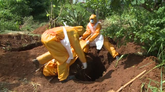 The King Tom cemetery in the centre of Freetown in Sierra Leone receives dozens of bodies every day many of them victims of the Ebola outbreak