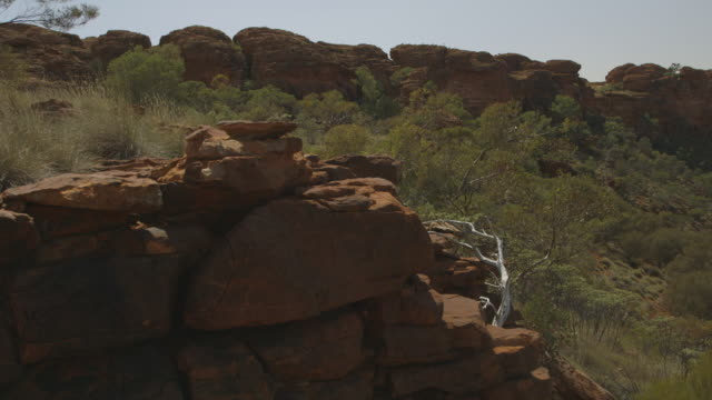 the kings canyon in the red centre, nt - weathered stock videos & royalty-free footage