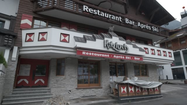 the kitzloch apresski bar and restaurant stands closed for the summer on september 10 2020 in ischgl austria ischgl became a superspreader locality... - ski holiday stock videos & royalty-free footage